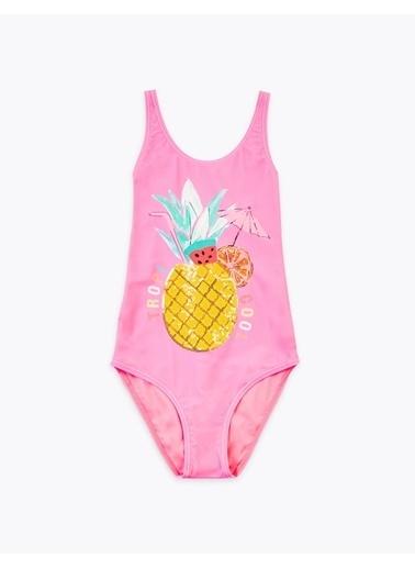 Marks & Spencer Ananas Desenli Mayo Pembe